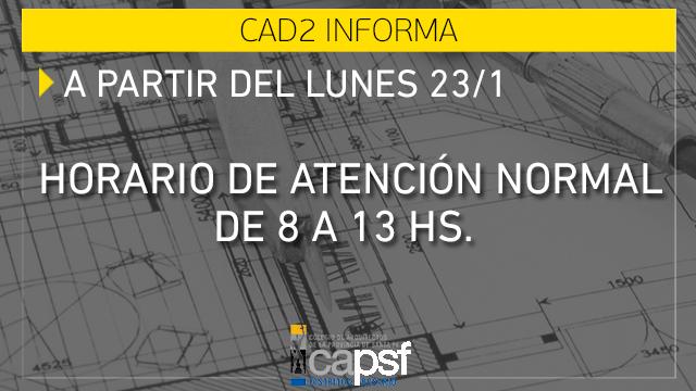 horario de atenciÓn normal | CAd2