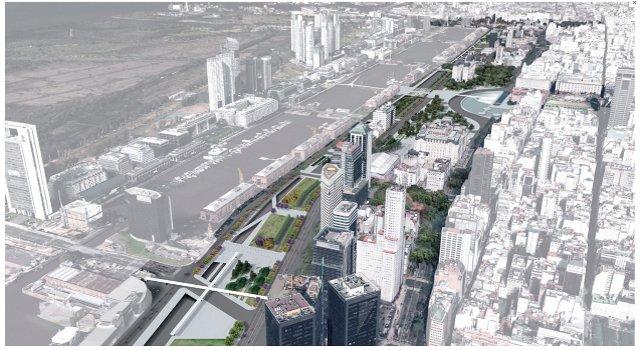 concurso nacional de ideas y propuesta urbanistica parque lineal paseo del bajo y entorno   CAd2