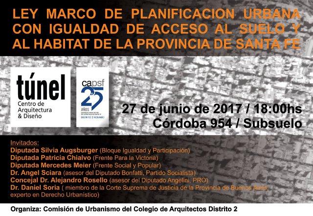 charla ley marco de planificaciÓn urbana con igualdad de acceso al suelo y al hÁbitat de la provincia de santa fÉ | CAd2