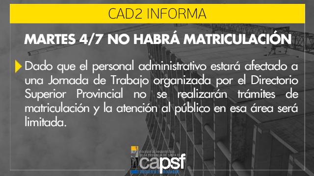 oficina de matriculaciÓn | CAd2