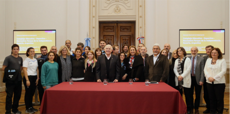 firma convenio para el concurso nacional de anteproyecto  complejo educativo - deportivo- recreativo parque de la independencia | CAd2