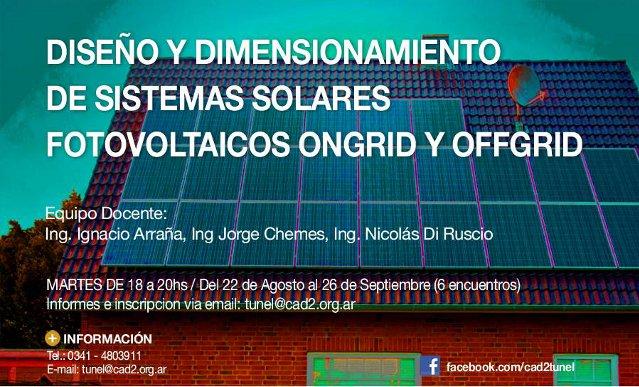 diseÑo y dimensionamiento de sistemas solares fotovoltaicos ongrid y offgrid | CAd2