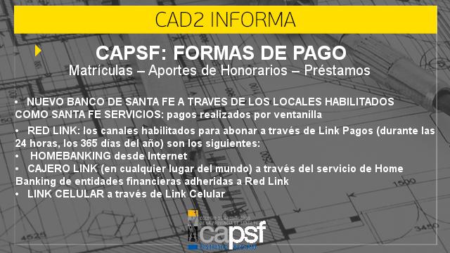 capsf: formas de pago | CAd2