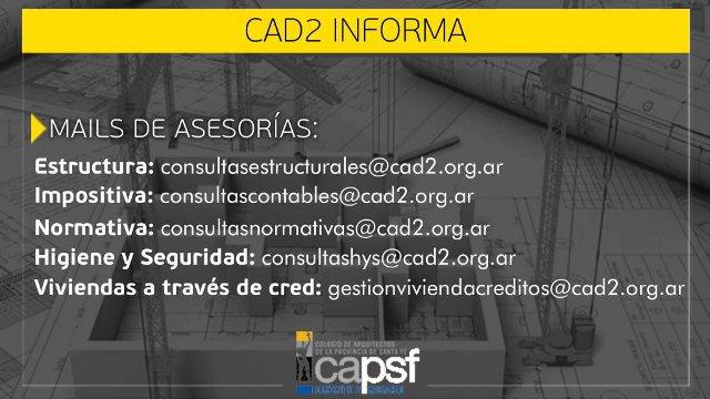 mails de asesorÍas | CAd2