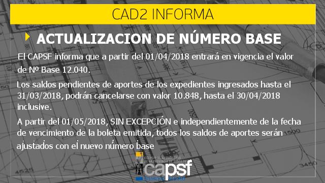 actualizaciÓn del nÚmero base | CAd2