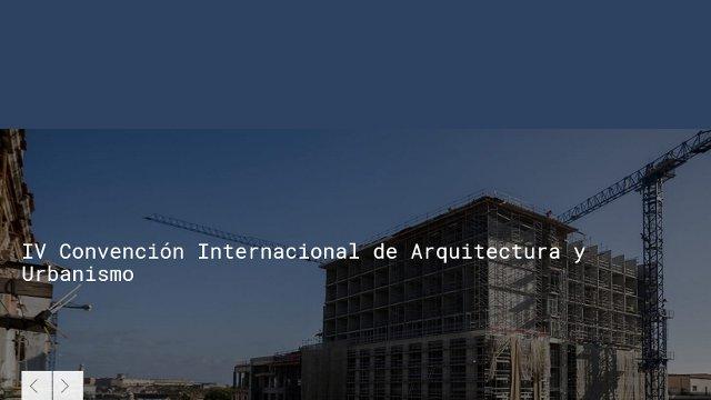 iv convención internacional de arquitectura y urbanismo | CAd2