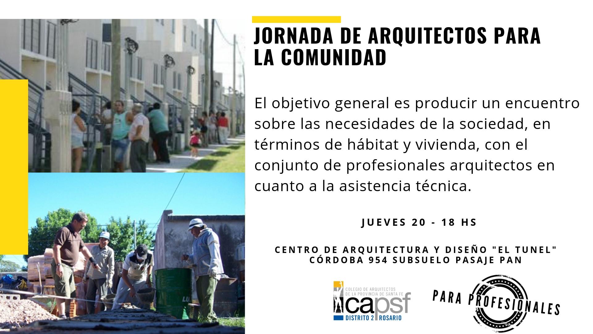 jornada de arquitectos para la comunidad | CAd2