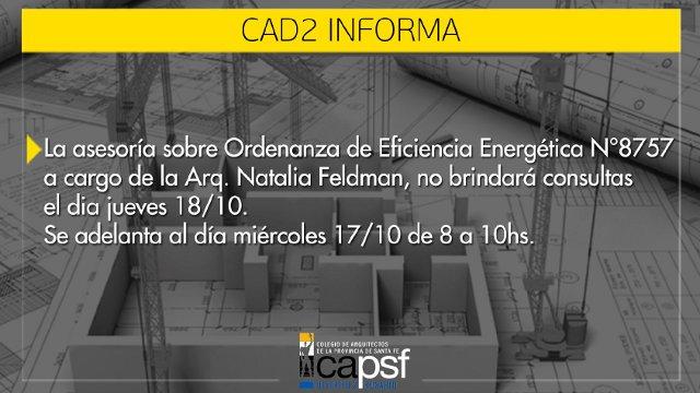 asesoría ordenanza eficiencia energética 8757 - miércoles 17-10 | CAd2