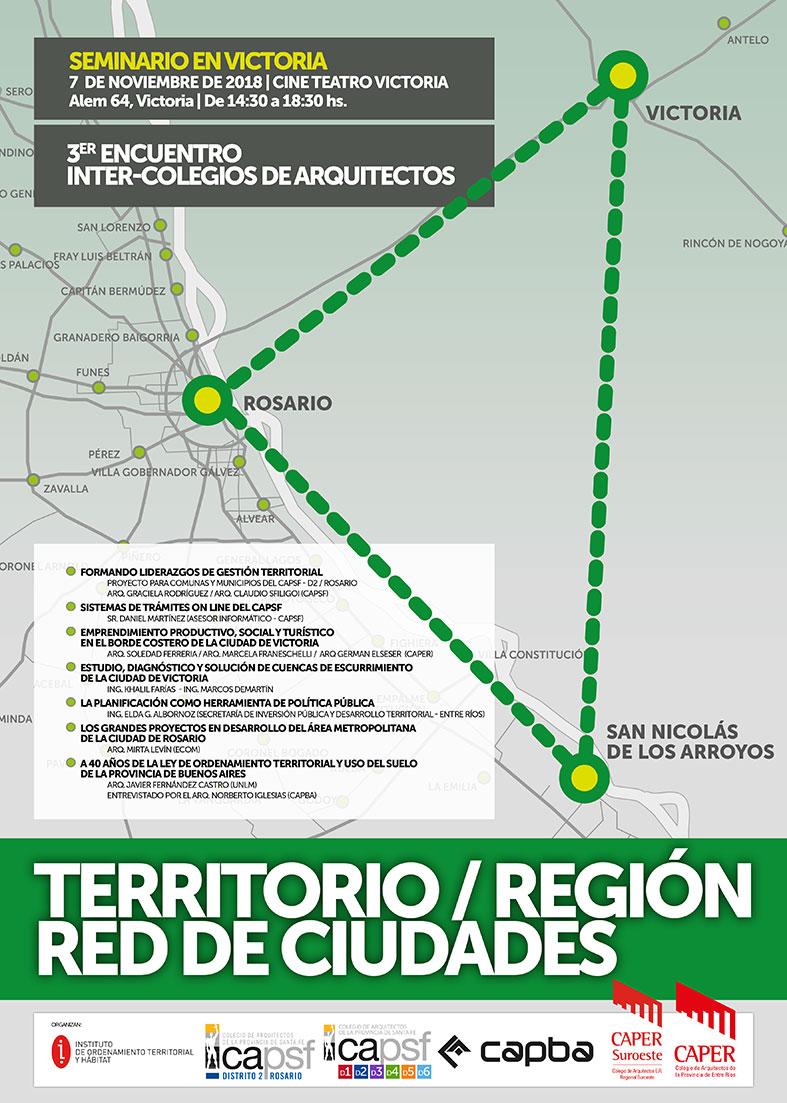 3° encuentro inter-colegios de arquitectos - territorio / regiÓn – red de ciudades | CAd2