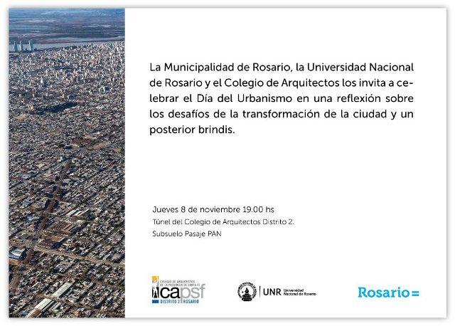 invitación a la celebración por el día del urbanismo | CAd2