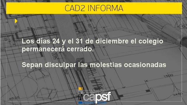 colegio cerrado 24 y 31 de diciembre | CAd2