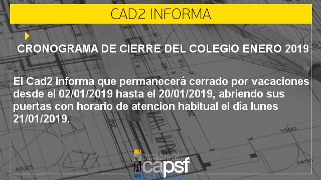 CRONOGRAMA DE CIERRE ENERO 2019