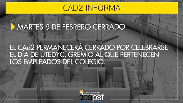martes 5 de febrero - dÌa de utedyc - colegio cerrado   CAd2