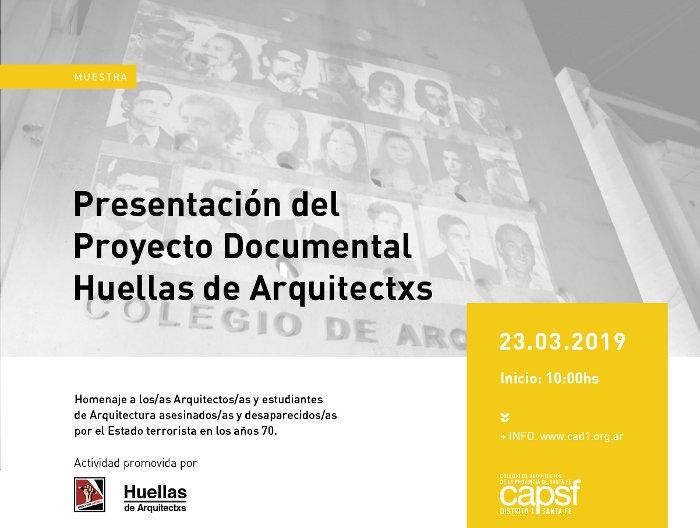 presentación del proyecto documental huellas de arquitectxs | CAd2