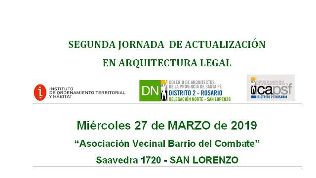 segunda jornada  de actualizaciÓn en arquitectura legal | CAd2