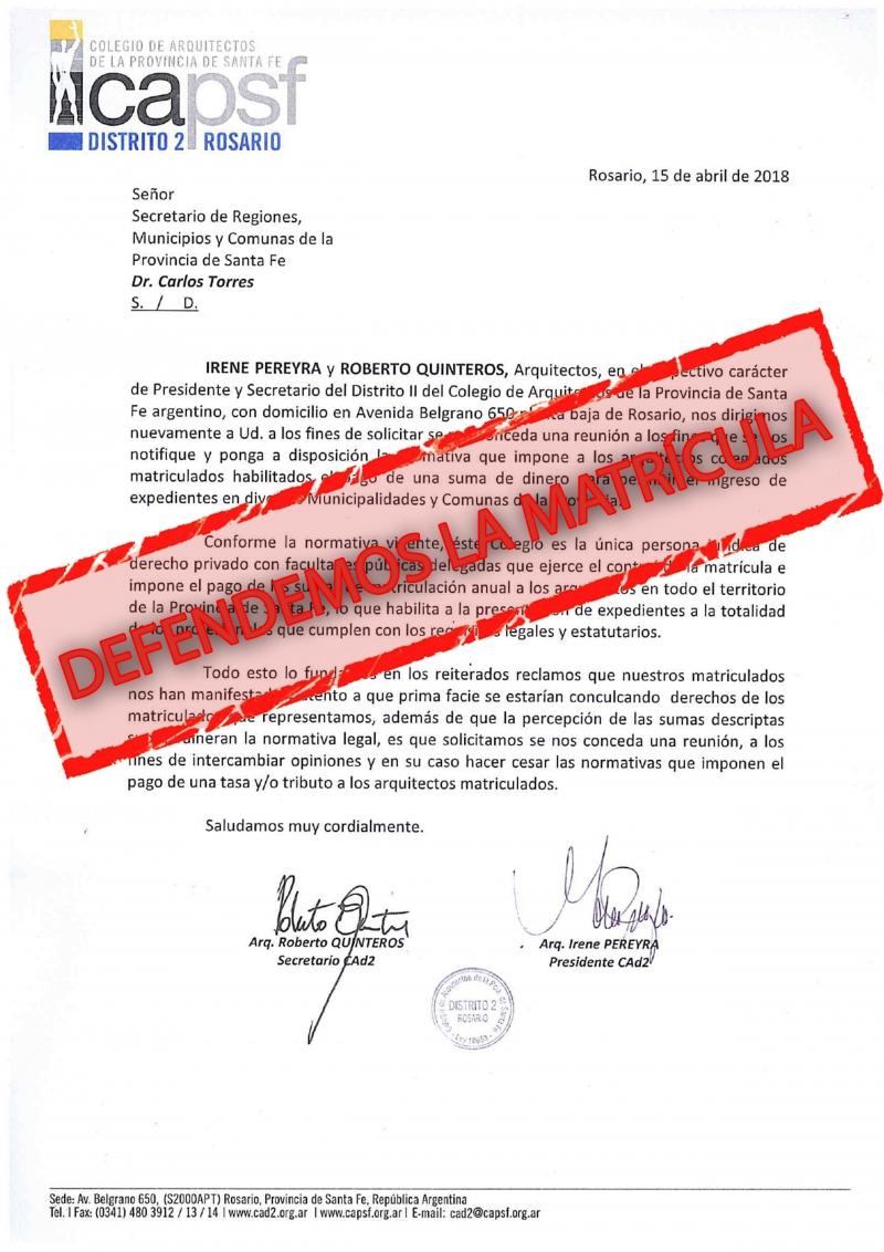 SOBRE EL COBRO DE TASAS EN COMUNAS Y MUNICIPIOS - DEFENDEMOS LA MATRICULA