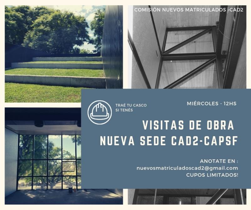 visita de obra de la nueva sede del colegio de arquitectos de rosario | CAd2