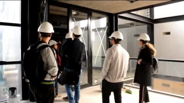 visita de obra de la nueva sede del colegio de arquitectos de rosario.   CAd2